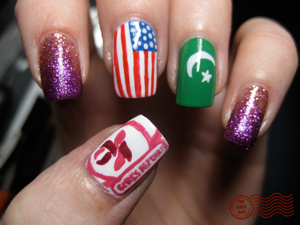 Pakistan Independence Day Nail Art 4 Designs: Independence Day