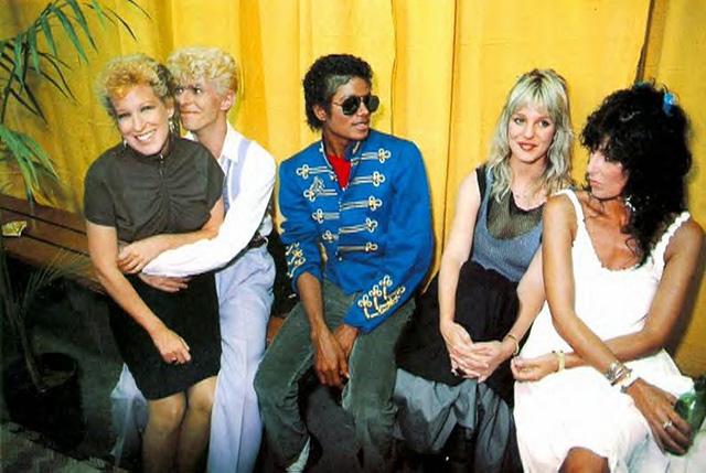 Bette-Midler-David-Bowie-Michael-Jackson-Georganne-LaPiere-and-Cher