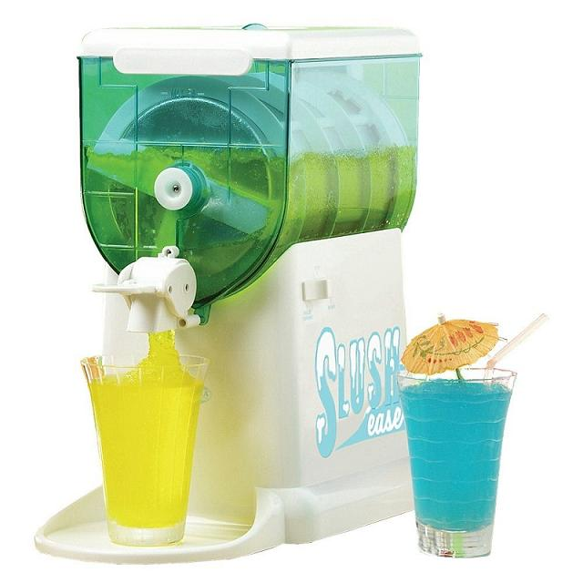 The Slush-Ease machine from Nostalgia Electrics uses crushed ice and table salt to make smooth slushy drinks for the entire family. Your kids can make their own frozen drinks with fruit juice, instead of those sugar-coma-inducing ones from the convenience store, and you and your friends can enjoy.